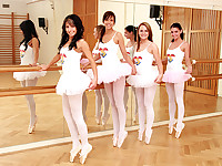 Teenage ballet girls