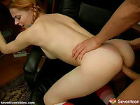 Teenage office fuck