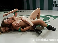 2 girl next door types battle it out on the mat100% Real non-scripted sex wrestling. Brutal!!